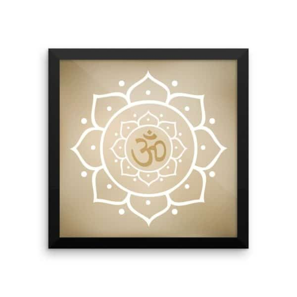 Sacred Geometry Framed Posters Lotus Flower Queen Of The Forest